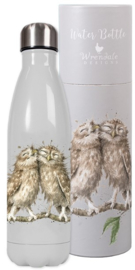 Wrendale Designs 'Birds of a Feather' Owl Water Bottle 500 ml