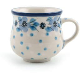 Bunzlau Farmers Mug Espresso 90 ml Blue White Love