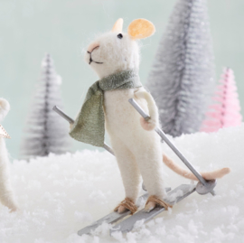 Sass & Belle Skiing Wonderland Mouse Felt Decoration