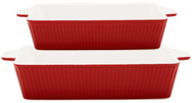 GreenGate Oven Dishes Red -set  of 2-