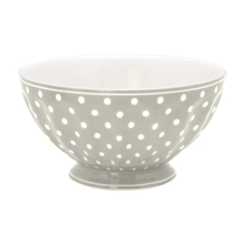 GreenGate French Bowl Extra Large Spot grey -stoneware-