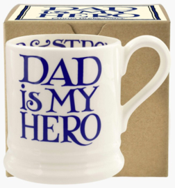 Emma Bridgewater Blue Toast Dad is my Hero 1/2 Pint Mug Boxed