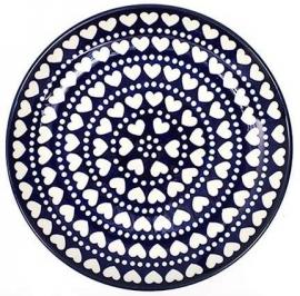 Bunzlau Plate 26,5 cm Blue Valentine