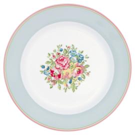 GreenGate Plate Franka pale blue -stoneware-