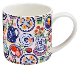 Ulster Weavers Straight Sided Mug Mediterranean Plates -Model A-