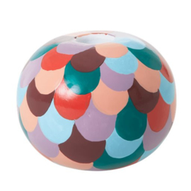Rice Small Metal Candle Holder -Multi- Follow the Call of the Disco Ball