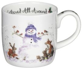 Wrendale Designs Gathered All Around Snowman Mug