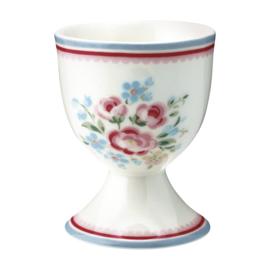 GreenGate Egg Cup Nicoline white -stoneware-