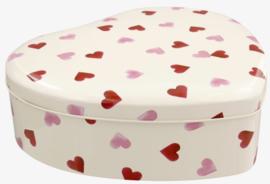 Emma Bridgewater Pink Hearts Large Heart Shaped Tin