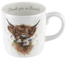 Wrendale Designs Large 'Thank you' Mug -Cow-