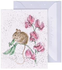 Wrendale Designs 'The Pea Thief' miniature Card
