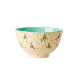 Rice Small Melamine Bowl - Budgie Print
