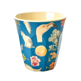 Rice Medium Melamine Cup with Blue Art Print