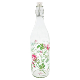 GreenGate Glass Bottle Constance white