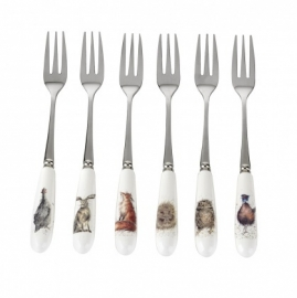 Wrendale Designs Set of Six Pastry Forks