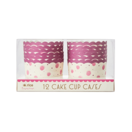 Rice Paper Cake Cup in Watercolor Splash Pink