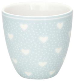 GreenGate Mini latte cup Penny pale blue -stoneware-