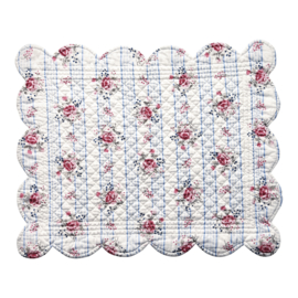 GreenGate Quilted Placemat Fiona pale blue