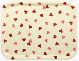 Emma Bridgewater Pink Hearts Rectangular Birch Wood Tray