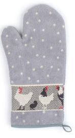 Bunzlau Oven Glove Chickens Grey