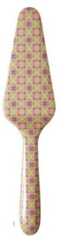Rice Melamine Cake Server Flower Tile Print 'Stay Outstanding'