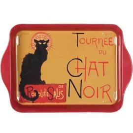 Dienblaadje metaal 21 x 14 cm Chat Noir