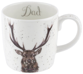 Wrendale Designs Large 'Dad' Mug -Stag-