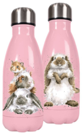 Wrendale Designs 'Piggy in the Middle' Small Water Bottle 260 ml