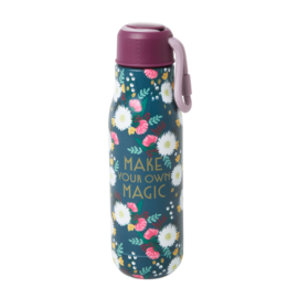 Rice Isolating Drinking Bottle with Wedding Bouquet print - RVS