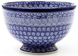 Bunzlau Bowl on Foot Large 25,5 cm Lace