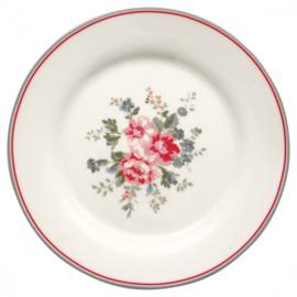 GreenGate Plate Elouise white -stoneware-