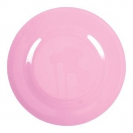 Rice Melamine Round Side Plate in Dark Pink