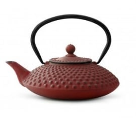 Bredemeijer Cast Iron Teapot Xilin 1,25 liter Red
