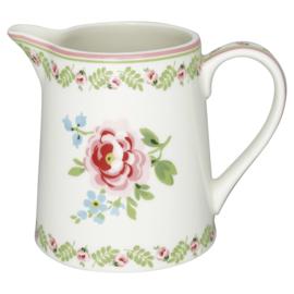 GreenGate Jug 0,5 liter Lily petit white -stoneware-