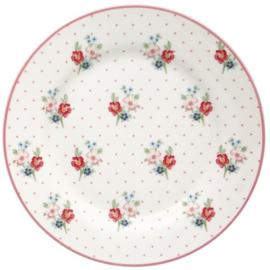 GreenGate Plate Eja white -stoneware-