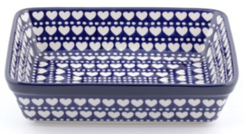 Bunzlau Oven Dish Rectangular 2850 ml Blue Valentine 22 x 8 x 28 cm