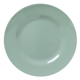 Rice Melamine Round Dinner Plate in Khaki