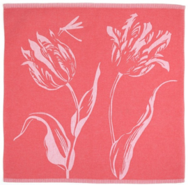 Bunzlau Tea Towel Tulips Red