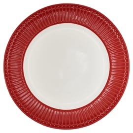 GreenGate Dinner Plate Alice Red