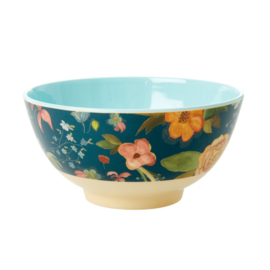 Rice Medium Melamine Bowl - Selma Fall Flower Print *vernieuwd model*
