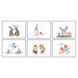 Wrendale Designs Set of 6 Christmas Placemats -small size-