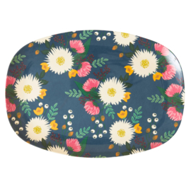 Rice Melamine Rectangular Plate - Wedding Bouquet Print