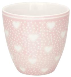 GreenGate Mini latte cup Penny pale pink -stoneware-