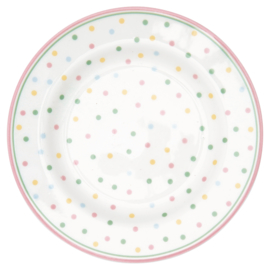 GreenGate Small Plate Bonnie white -stoneware-