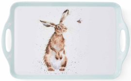 Wrendale Designs Large Melamine Tray 'The Hare and the Bee'