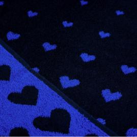 Bunzlau Kitchen Towel Hearts Dark Blue
