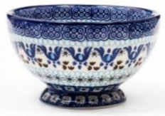 Bunzlau Bowl on Foot 18,5 cm Marrakesh