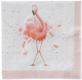 Wrendale Designs Lunch Napkins 'Pretty in Pink'