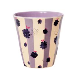 Rice Medium Melamine Cup - Blackberry Beauty - Lavender Inner