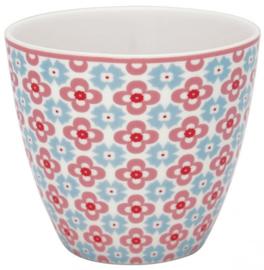 GreenGate Latte Cup Cordelia white -stoneware-